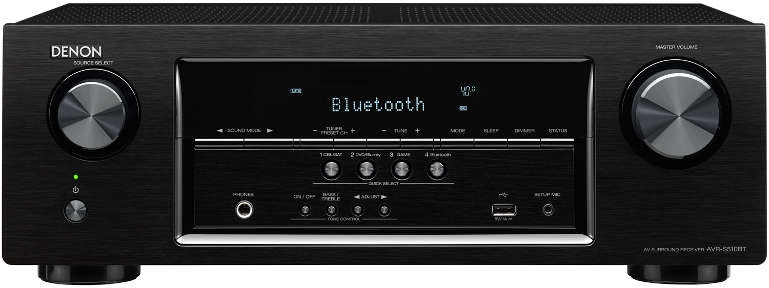DENON AVR-S510BT 5.2-Ch x 70 Watts Bluetooth A/V Receiver