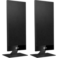 "KEF T101 4.5"" 2-Way On-Wall Speaker Black Pair"