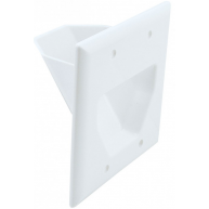 ETHEREAL EDC-2GW 2-Gang Recessed Wall Plate White