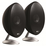"KEF E301 4.25"" 2-Way Satellite Speakers Black Pair NEW"