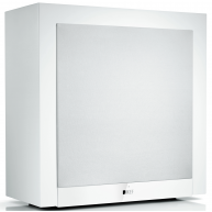 "KEF T2 10"" 250 Watt Powered Slim Subwoofer only 7"" deep White"
