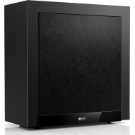 "KEF T2 10"" 250 Watt Powered Slim Subwoofer only 7"" deep Black"