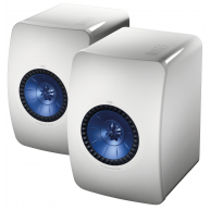 "KEF LS50 5.25"" 2-Way Mini Monitor Gloss White Pair"