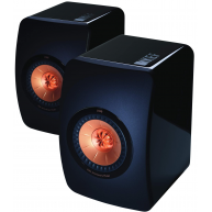 "KEF LS50 5.25"" 2-Way Mini Monitor High Gloss Piano Black Pair"