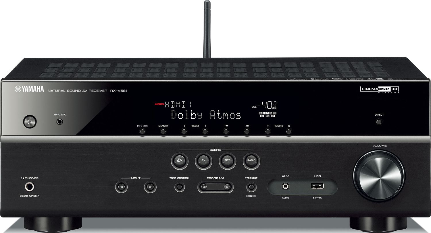 yamaha rx v581 7 2 ch x 80 watts networking a v receiver. Black Bedroom Furniture Sets. Home Design Ideas