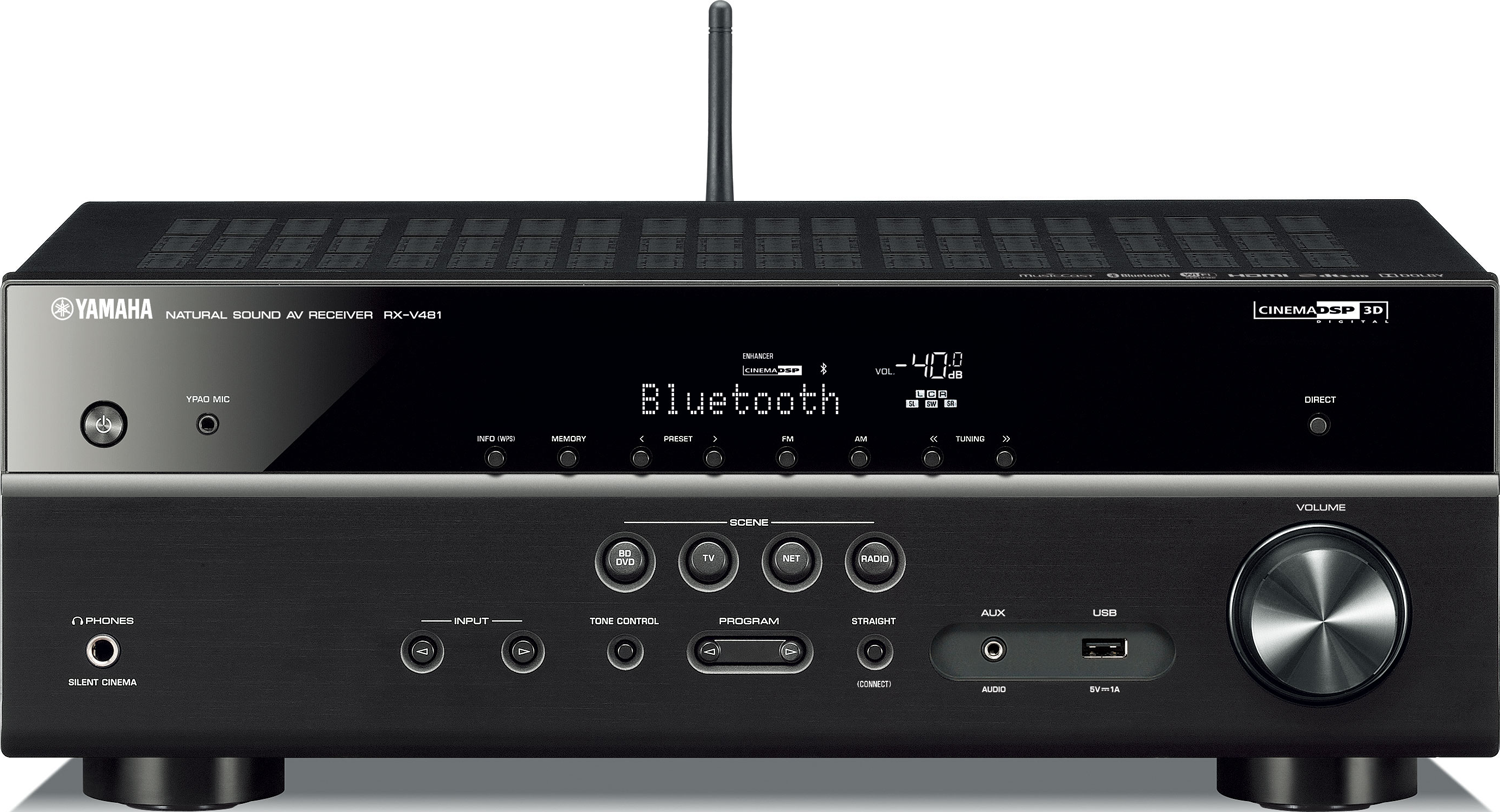 yamaha rx v481 5 1 ch x 80 watts a v receiver accessories4less. Black Bedroom Furniture Sets. Home Design Ideas