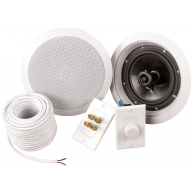 "MTX Musica ADZ612C 6.5"" In-Ceiling Speakers includes wire & volume control"