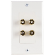 MTX Musica Decora Style Wall Plate 4 Port