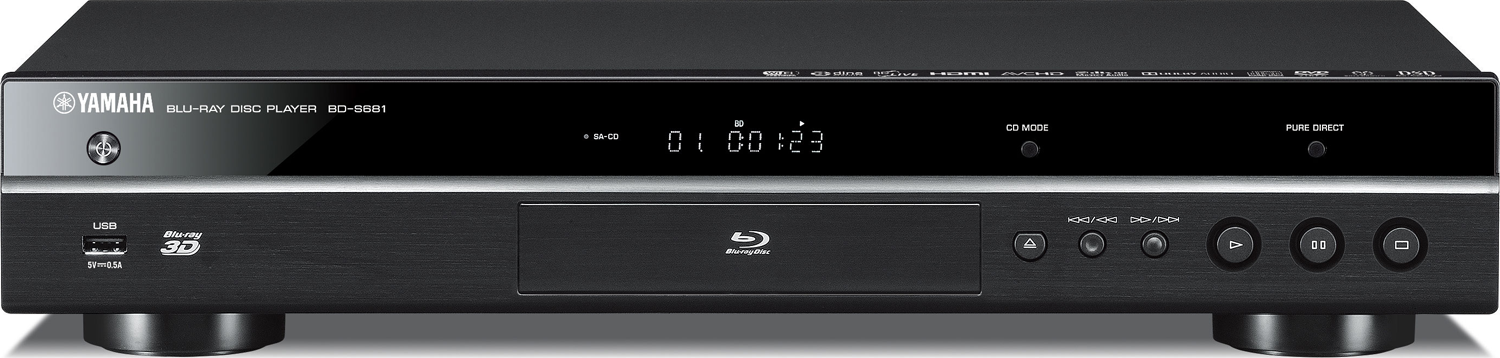 yamaha bd s681 blu ray player accessories4less. Black Bedroom Furniture Sets. Home Design Ideas