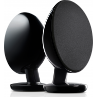 KEF EGG Powered Desktop Speakers w/ Bluetooth Black