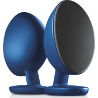KEF EGG Powered Desktop Speakers w/ Bluetooth Blue