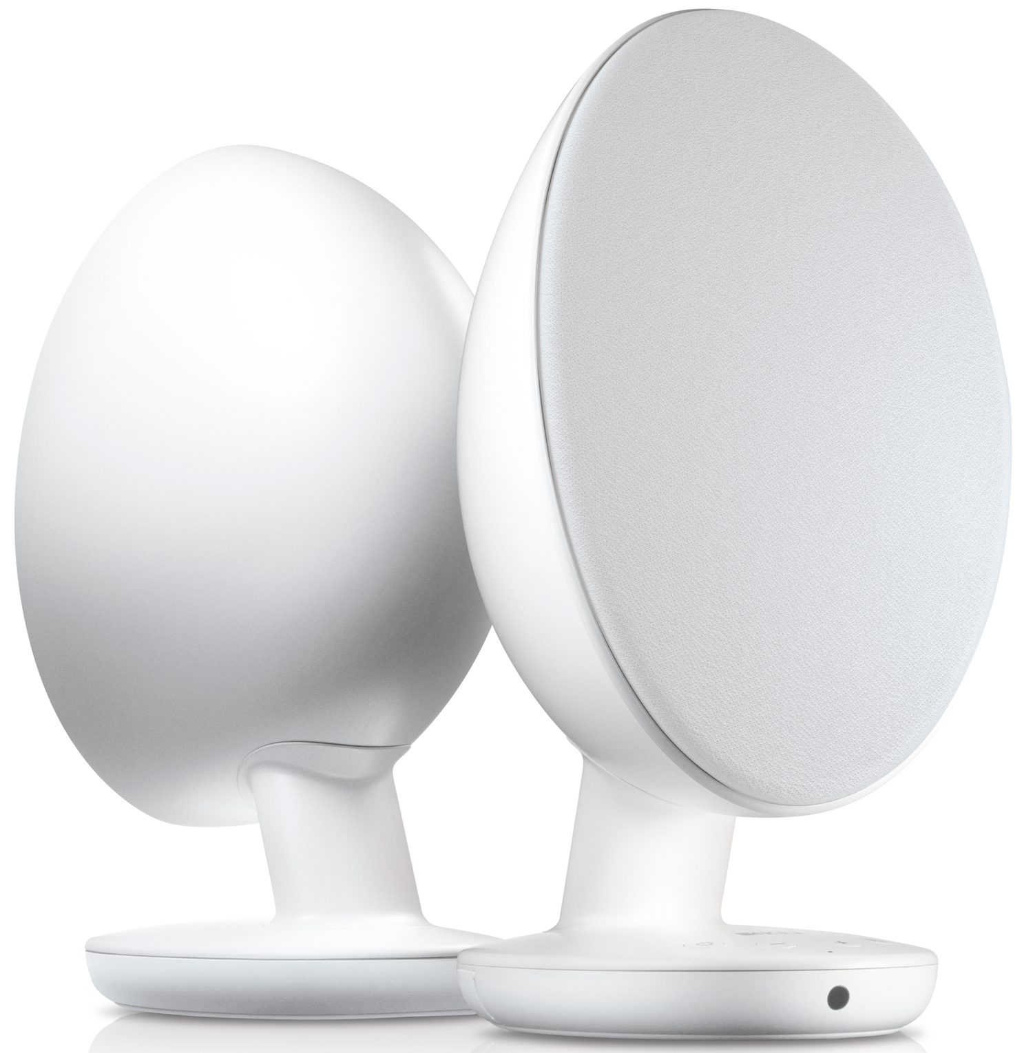 Kef Egg Powered Desktop Speakers W Bluetooth White