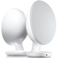 KEF EGG Powered Desktop Speakers w/ Bluetooth White