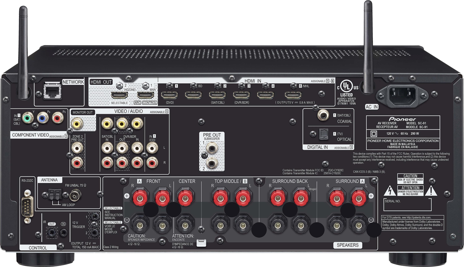 Pioneer Elite Sc 91 7 2 Ch X 130 Watts Networking A V