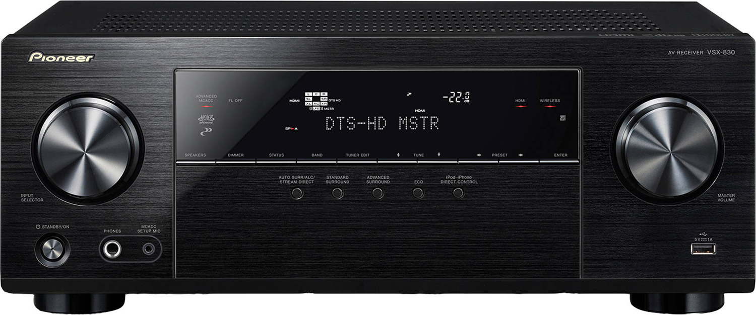PIONEER VSX-830-K 5.2-ch x 80 Watts Networking A/V Receiver
