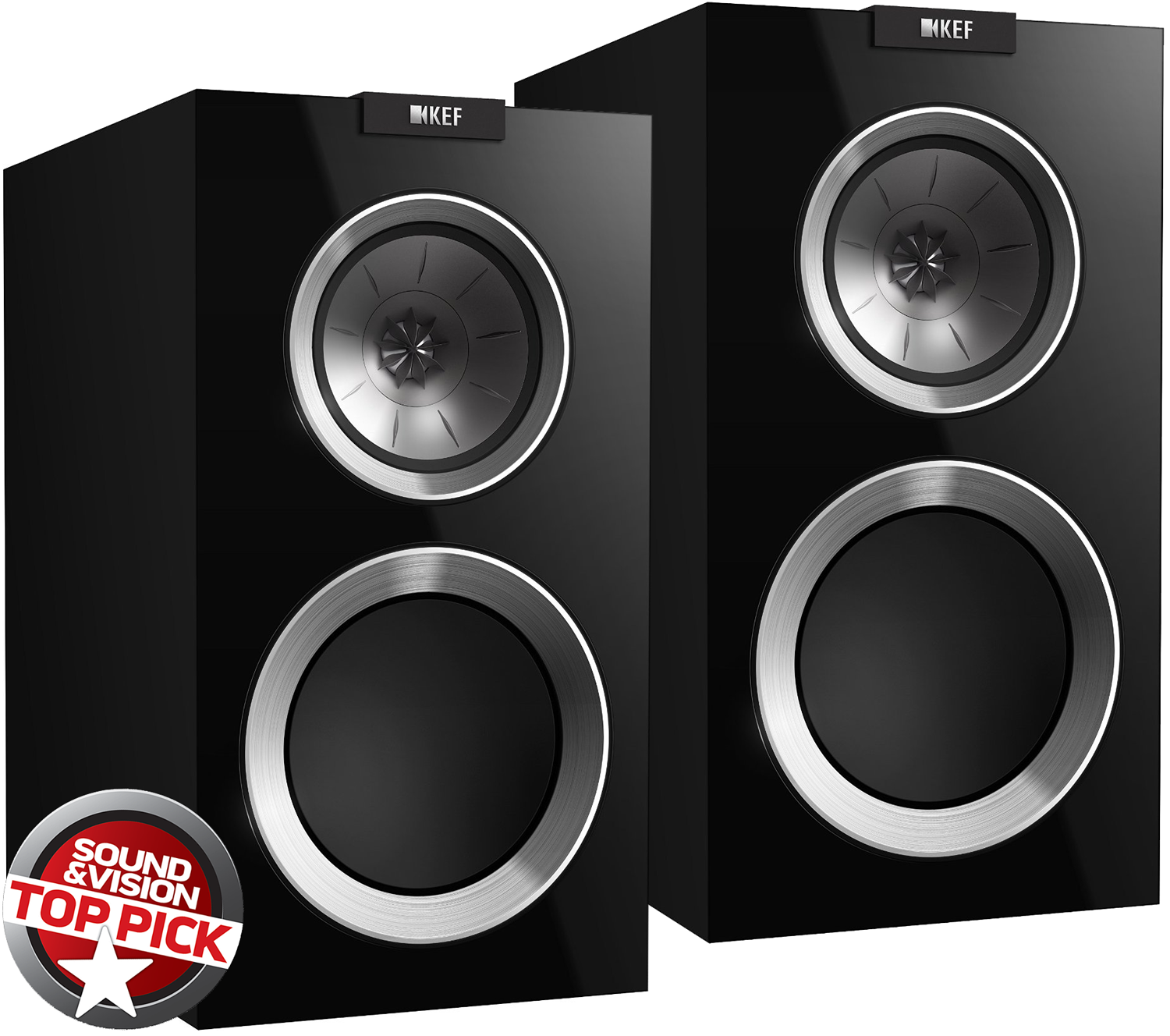 Kef R300 R Series 6 5 Quot Bookshelf Speakers Gloss Black Pair