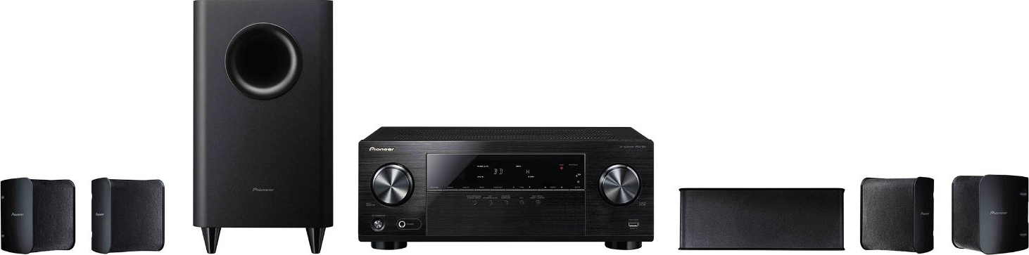 pioneer htp 072 5 1 channel home theater system. Black Bedroom Furniture Sets. Home Design Ideas