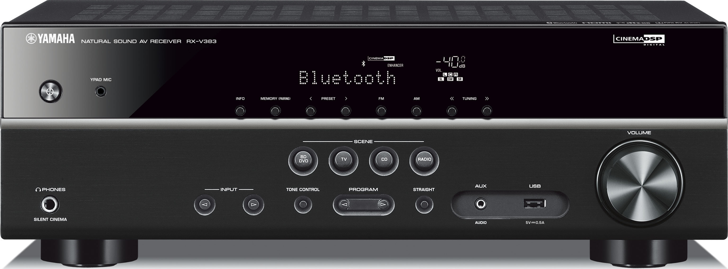 Yamaha Rx V383 51 Ch X 70 Watts Bluetooth A V Receiver Audio Enhancement For Analog Amplifier