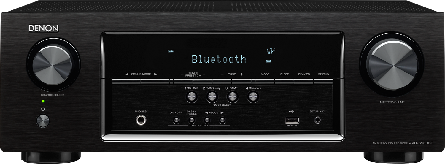DENON AVR-S530BT 5 2-Ch x 70 Watts Bluetooth A/V Receiver