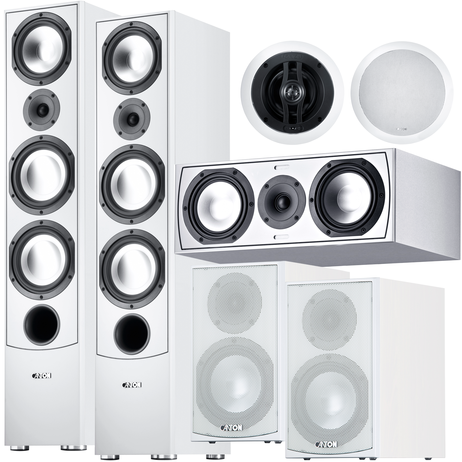 CANTON GLE 7 Piece Atmos Speaker Package White