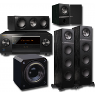 KEF 5-pc Q Series Speakers, Sunfire HRS12 Subwoofer & Pioneer SC-LX501 Receiver