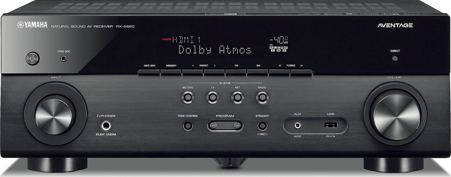 yamaha rx a680 7 2 ch x 80 watts a v receiver accessories4less. Black Bedroom Furniture Sets. Home Design Ideas