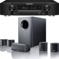 CANTON Movie 95 5.1 Speaker System & Marantz NR1608 7.2-Ch 50 Watts Networking Receiver
