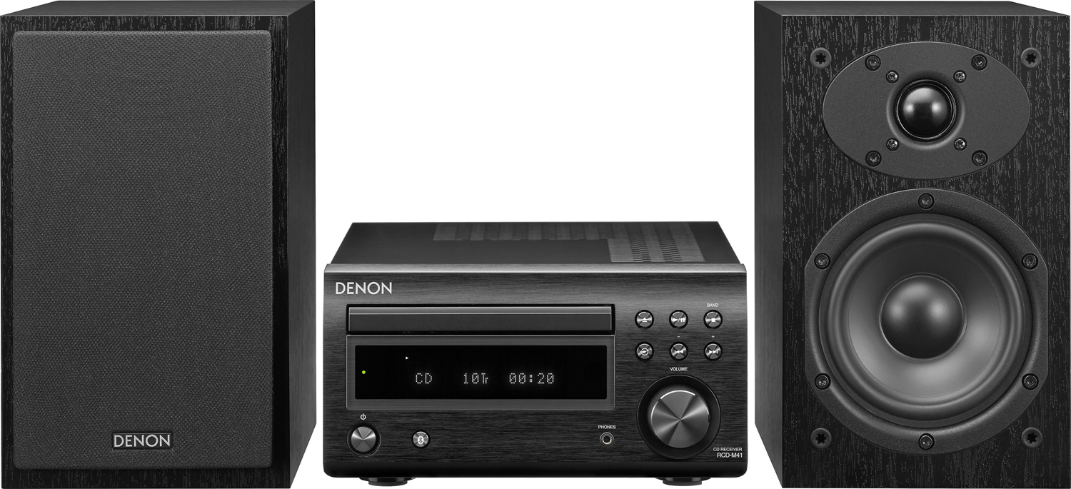 Denon D M41 Cd Fm Micro Desktop Stereo System W Bluetooth Accessories4less