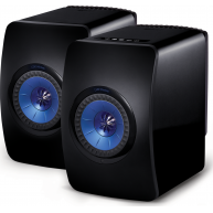 "KEF LS50 5.25"" Wireless 2-Way Mini Monitor Black Pair"