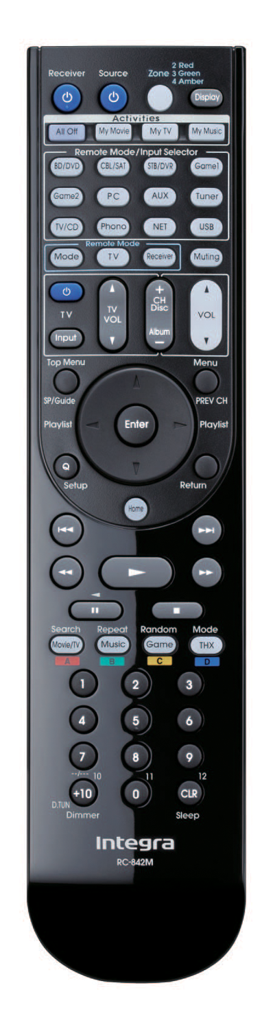 INTEGRA RC-842M Genuine OEM Remote Control for DTR-70.4