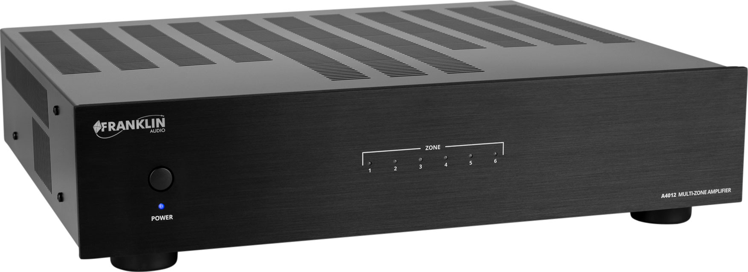 FRANKLIN AUDIO A4012 Multi-Zone 12 Channel Amplifier. 6ch - 12ch 80wpc bridged