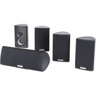 POLK AUDIO RM75 5 Piece Speaker Package Black NEW