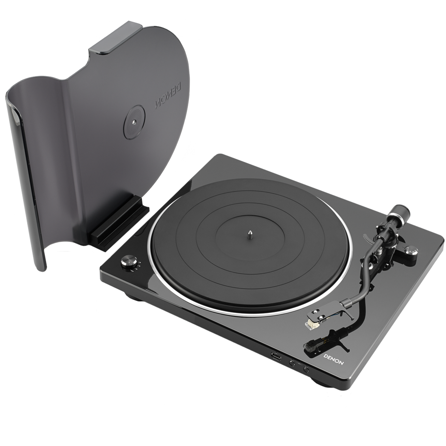DENON DP-450USB Belt Drive Fully Automatic Analog Turntable w/ Pre-Amp & USB Black