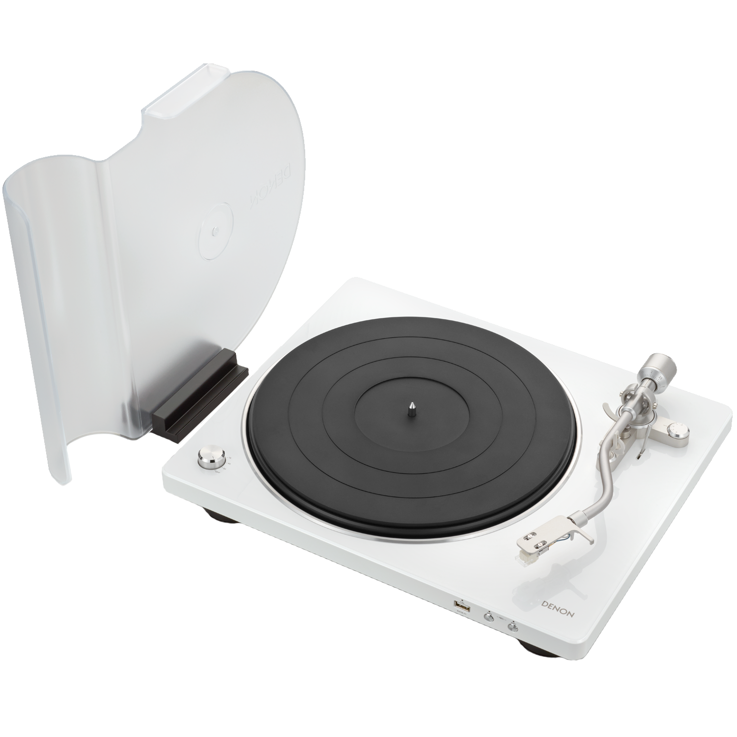 DENON DP-450USB Belt Drive Fully Automatic Analog Turntable w/ Pre-Amp & USB White
