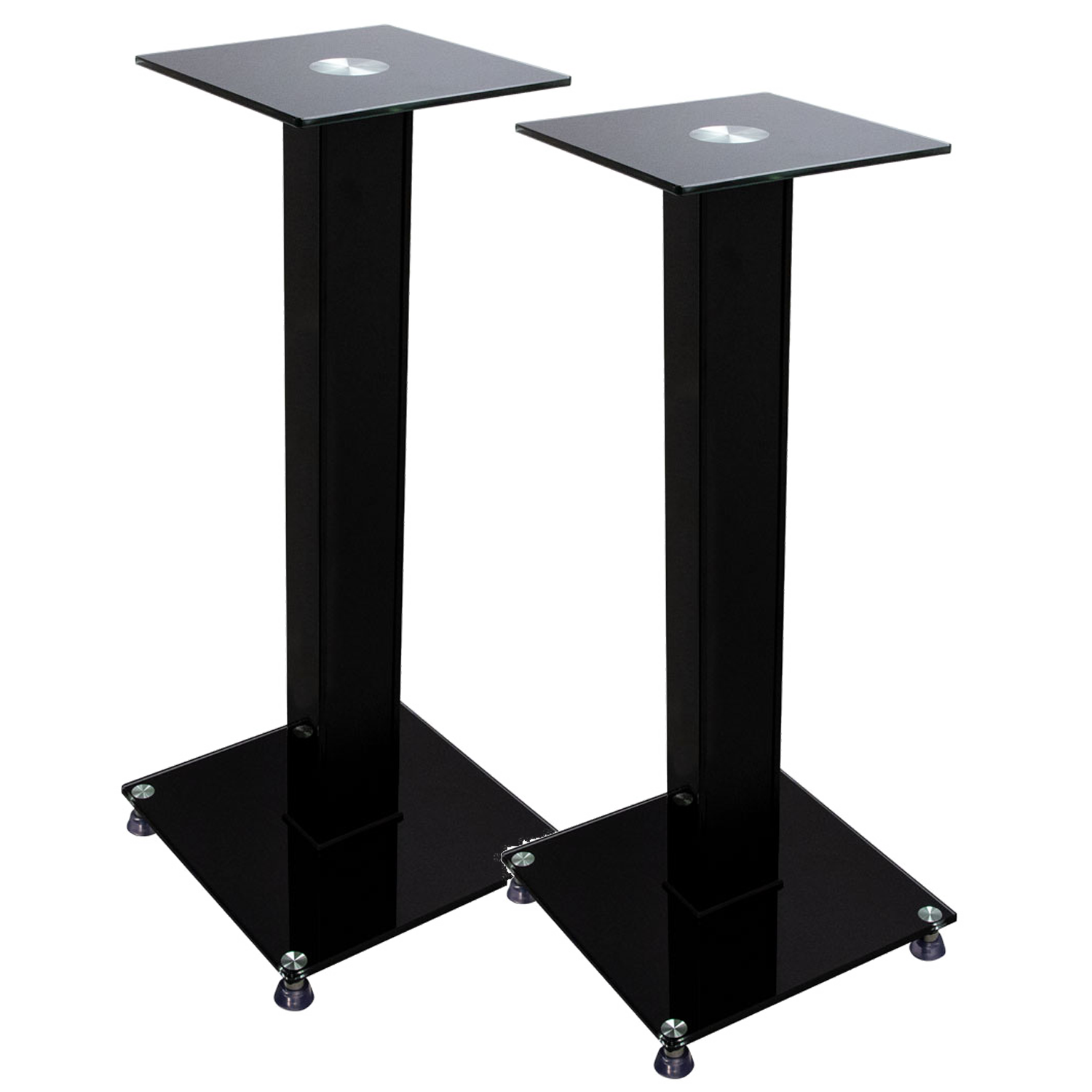 Ethereal Helios As Spkr 5 Glass And Wood Bookshelf Speaker Stand Pair