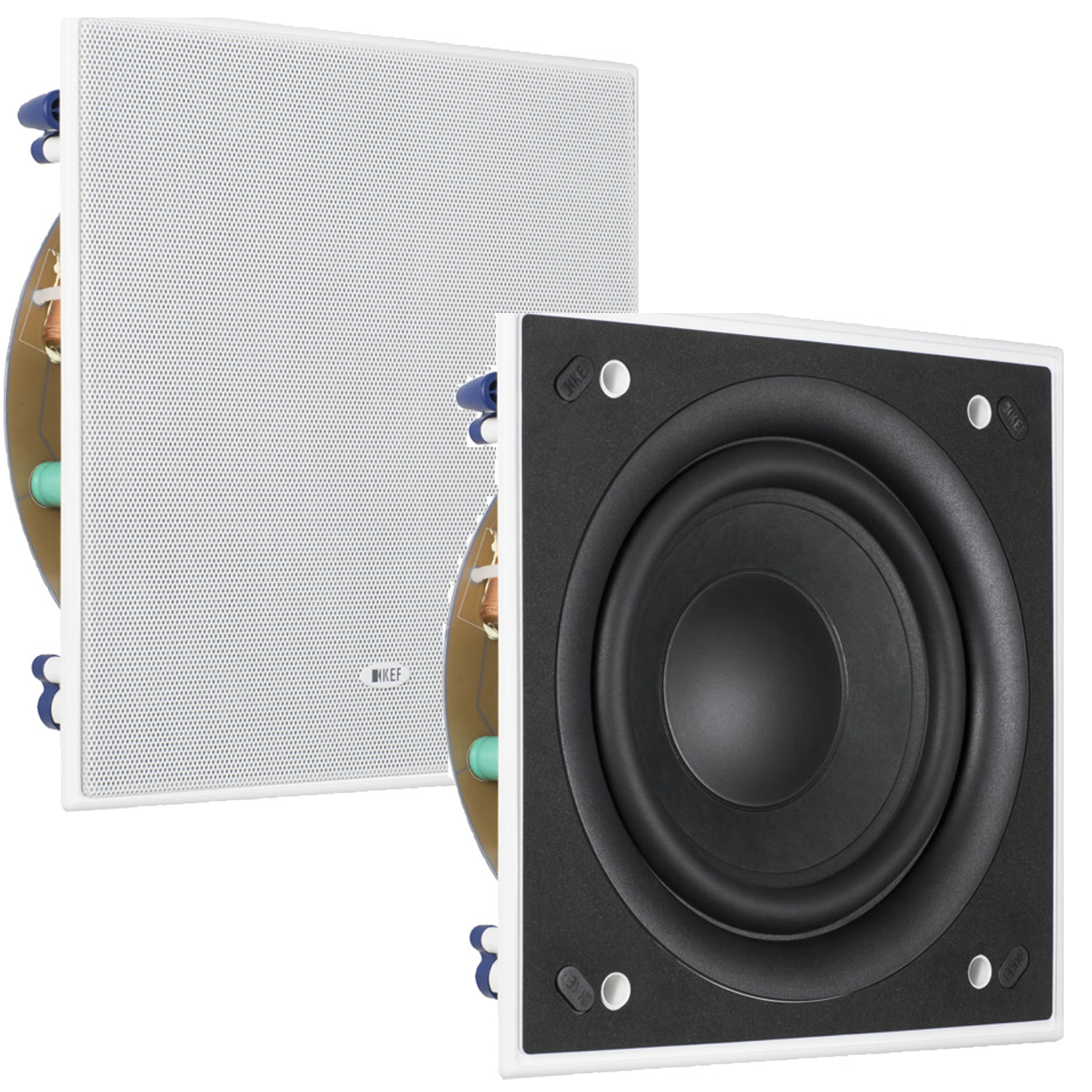 In Wall Subwoofer >> Kef Ci200qsb 8 Thx In Wall Subwoofer Pair Free 100 Speaker Wire