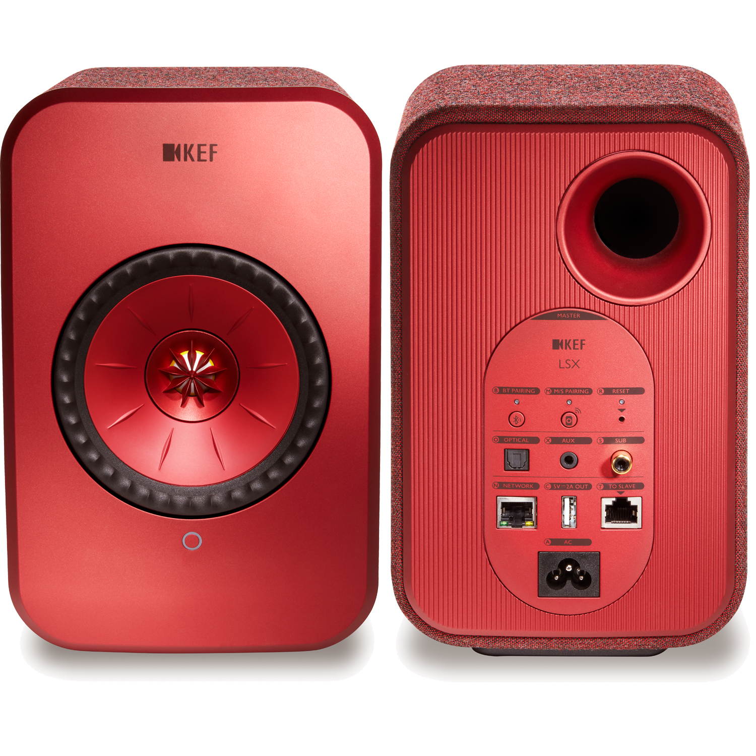 KEF LSX Wireless Music System Red Pair NEW