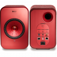 KEF LSX Wireless Music System Red Pair