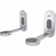 KEF LSX B1 Wall Bracket for LSX Series Speakers Silver Pair