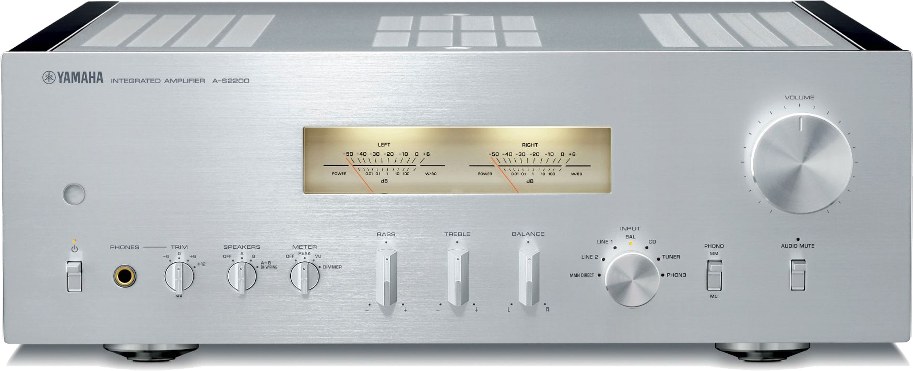 YAMAHA A-S2200 Stereo Integrated Amplifier Silver NEW