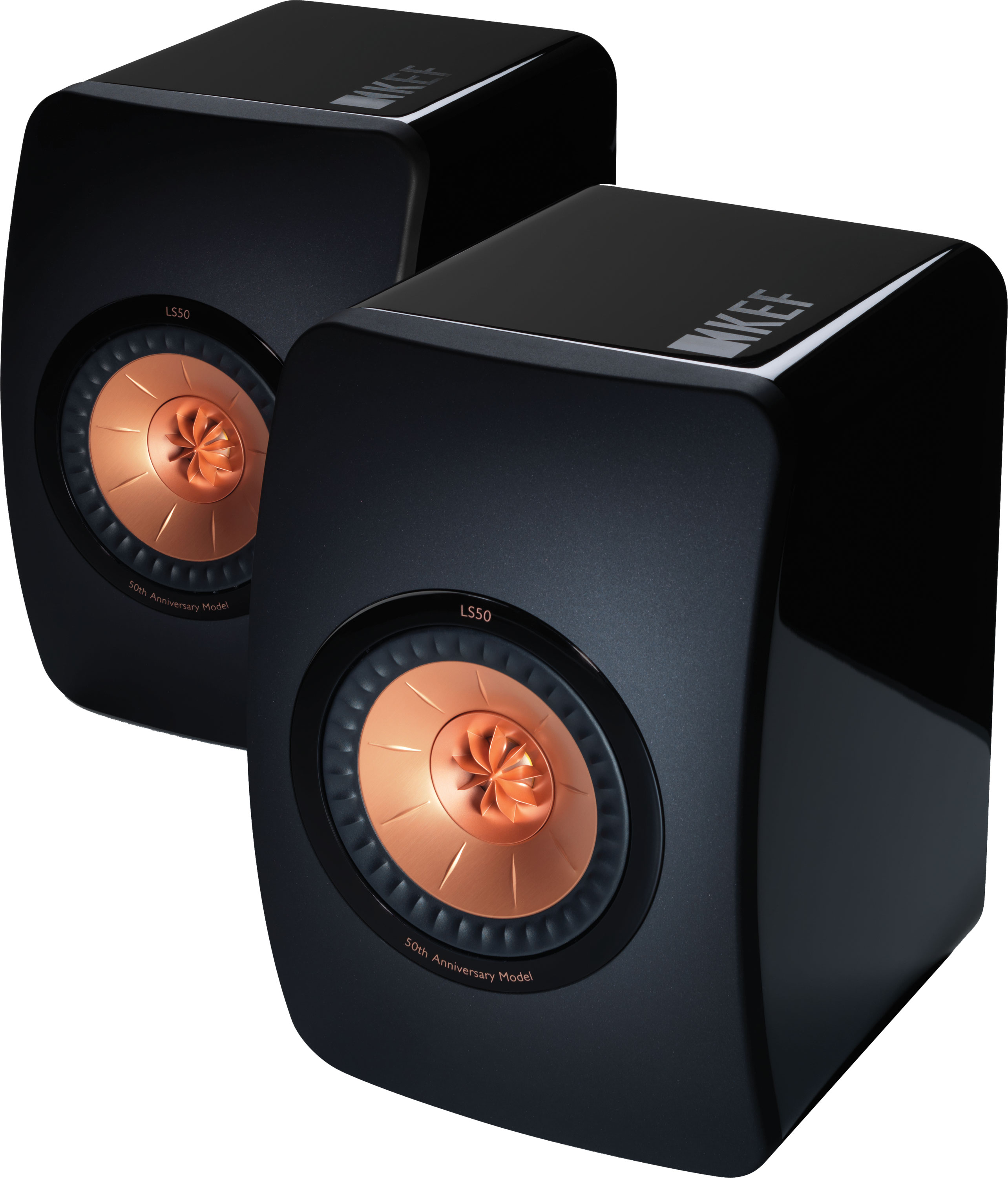 KEF LS50 50th Limited Anniversary Edition High Gloss Black Pair NEW