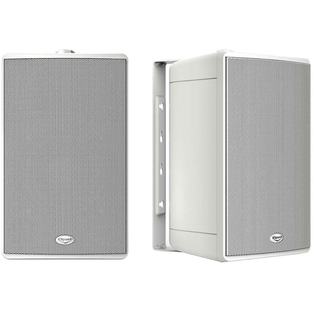 "KLIPSCH KHO-7 5.5"" Outdoor Weatherproof Speakers White Pair OPEN BOX"