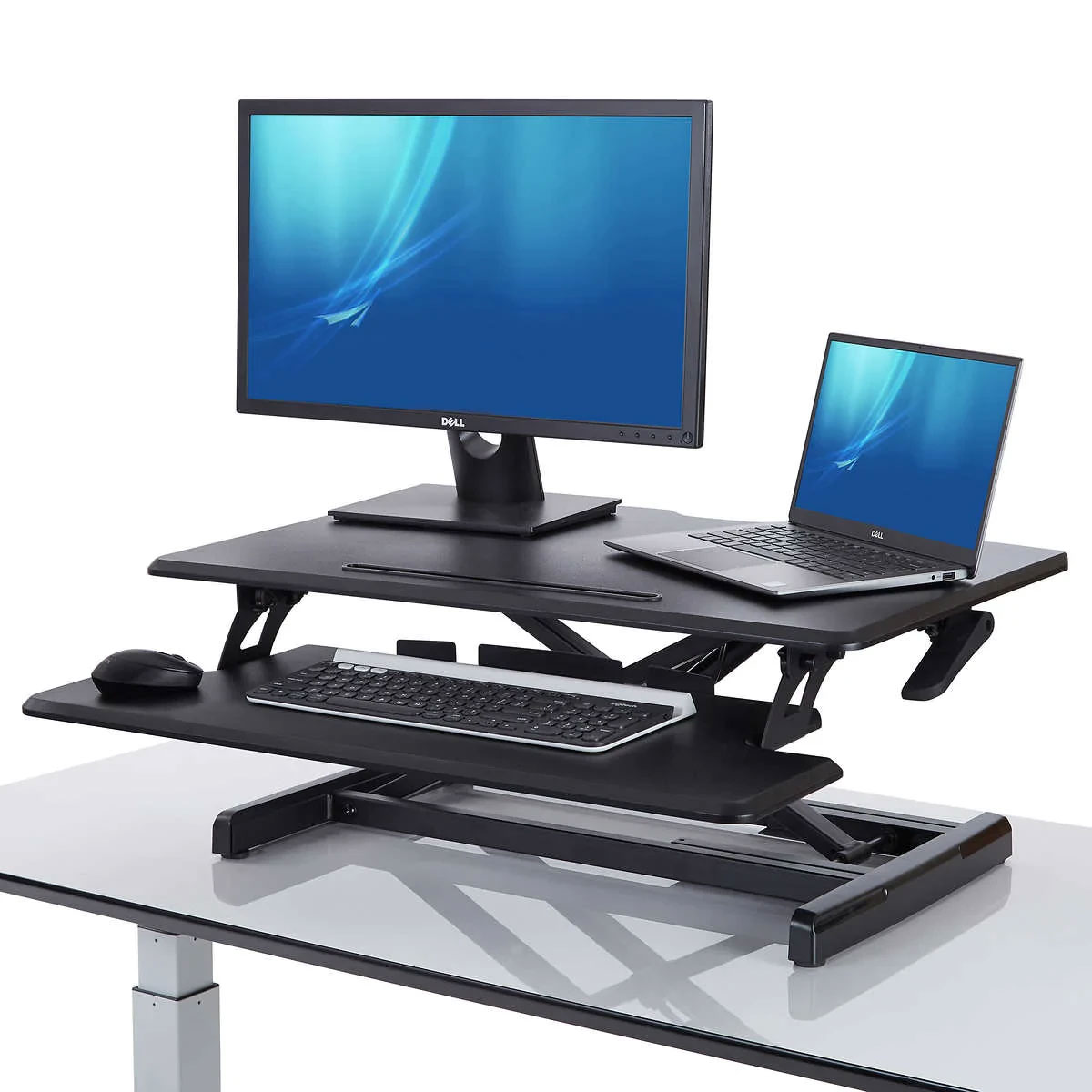 SEVILLE CLASSICS AirLIFT Pro Desk Riser-for Home Office Sit Stand OPEN BOX