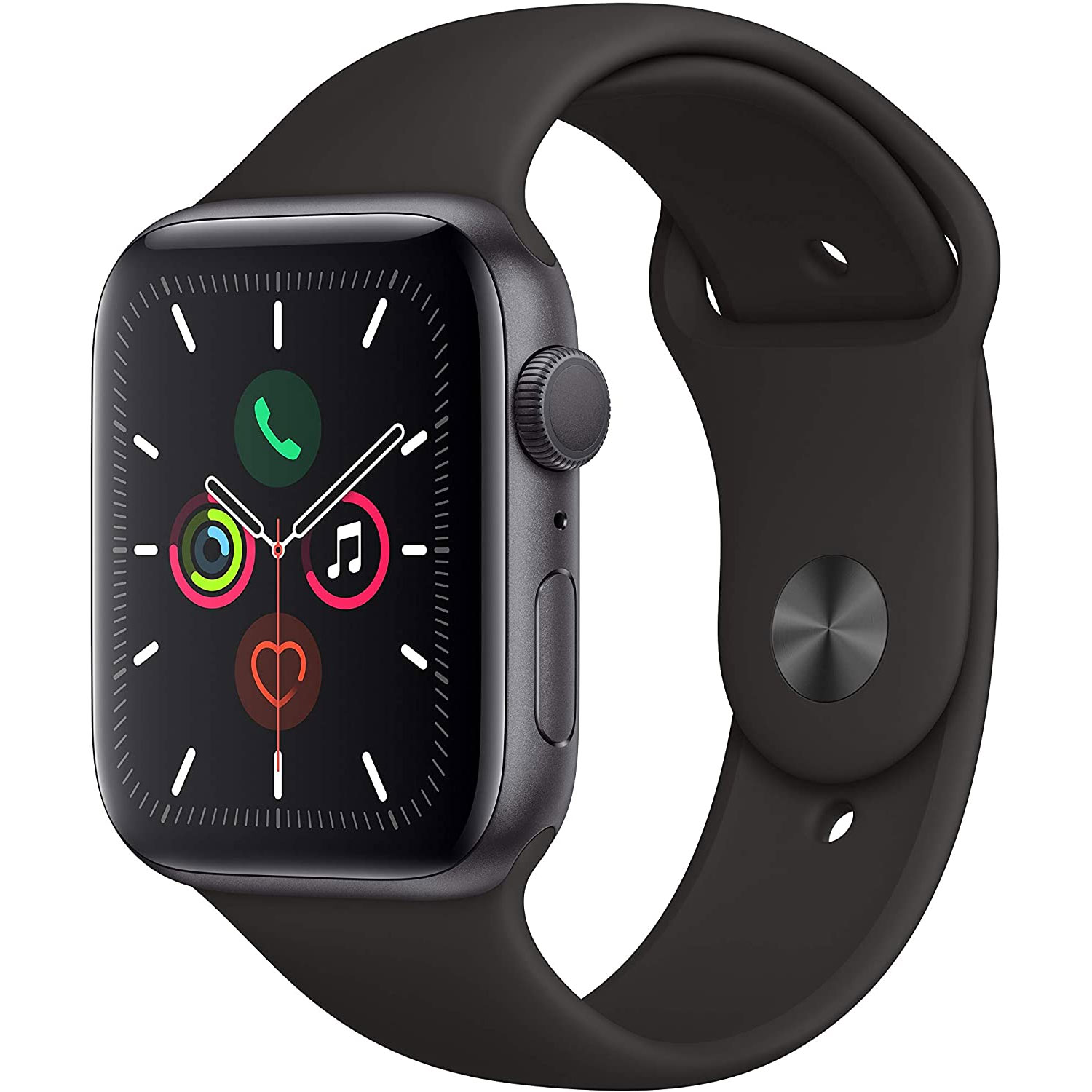 APPLE Watch Series 5 A2093 44mm Space Gray w/ Black Sport Band OPEN BOX