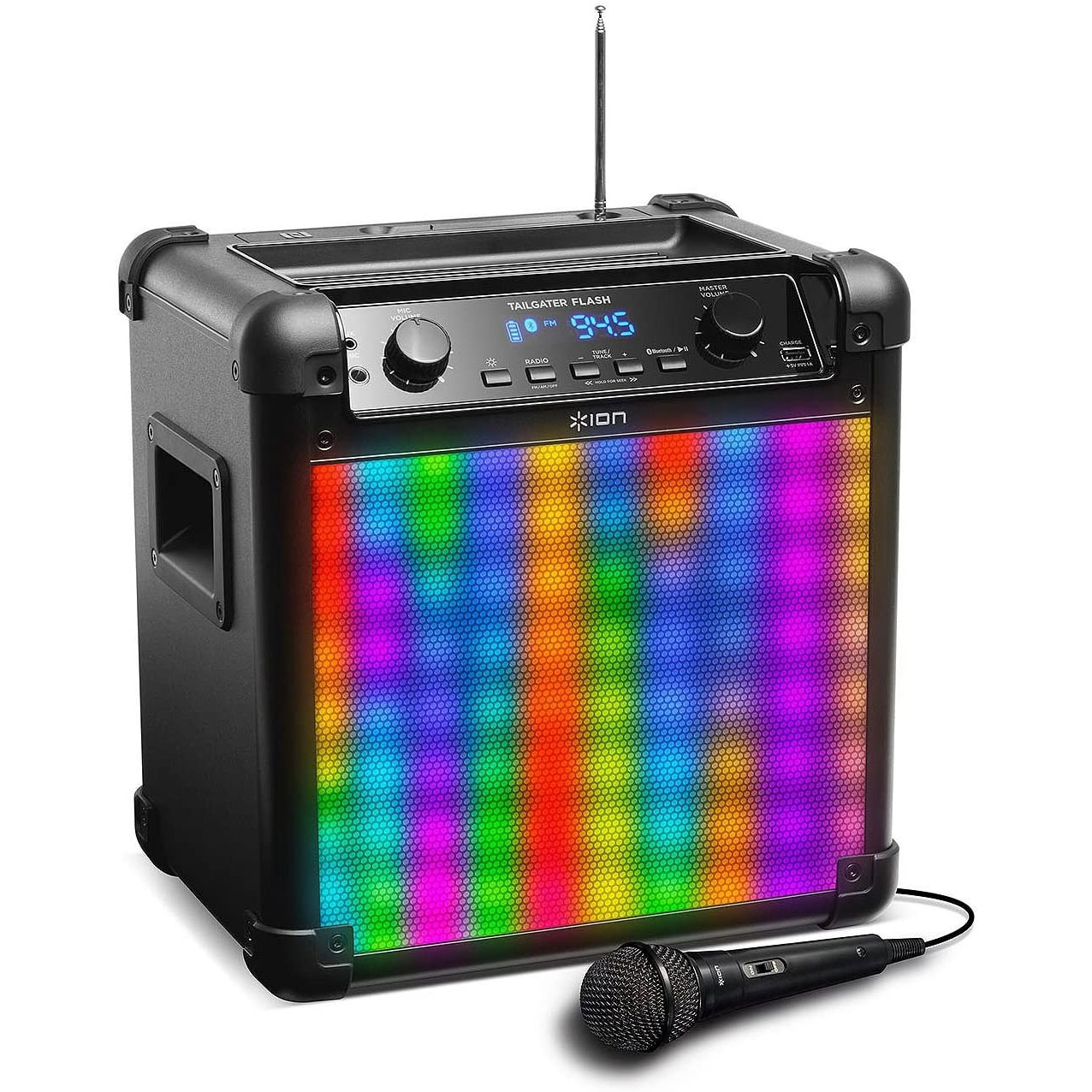 ION AUDIO Tailgater Flash Portable Speaker System with Lights USED