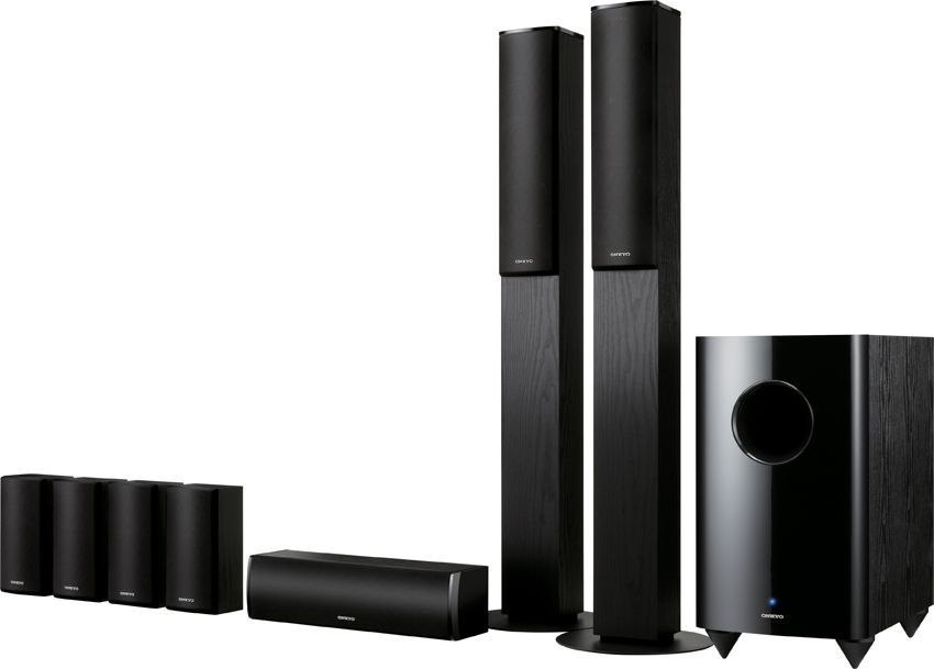 ONKYO SKS-HT870 7.1 Home Theater Speaker System Black w/ Sub